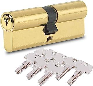 BETOY Cilindro cerradura, Cilindro de Alta Seguridad, Leva Larga, Llave - Llave, Latonado, 40/40(80mm) Cilindro de doble v...
