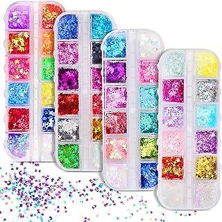 Kit de decoración de uñas de mariposa de 48 colores, mariposa con purpurina para uñas, mariposa holográfica, mariposas, de...