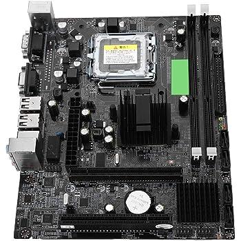 Richer-R デスクトップコンピュータマザーボード 耐久性 互換性 LGA 775 USB2.0 SATAメインボード Intel G41用