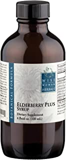 Wise Woman Herbals – Elderberry Plus Syrup 4 Oz – All-Natural Remedy Boost Immunity, Supports a Healthy Immune System During Cold, Flu and Fever Seasons, Herbal Formula with Echinacea, Zinc, Vitamin C