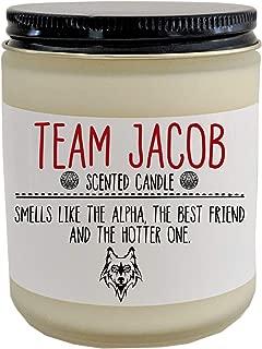 Team Jacob Twilight Saga Scented Candle Jacob Bella Edward Jacob Black Twilight Fan Bookish Candle