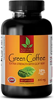 Fat Burner Pills for Weight Loss Fast - Green Coffee Bean Extract - Extra Strength GCA 800 MG - Green Coffee Cleanse Bean ...