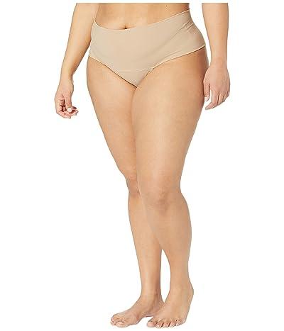 Hanky Panky Plus Size Bare Godiva High-Rise Thong (Biscotti) Women