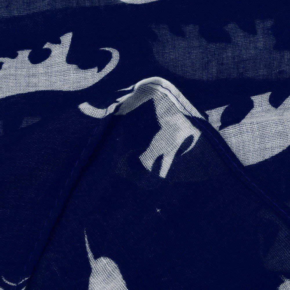 VOYOAO Women Long Fashion Animal Pattern Scarf Infinity Shawl Voile Soft Wrap