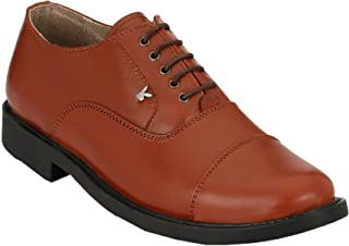 XY HUGO 2503 Tan Formal, Police Lace UP Leather Shoe