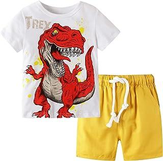 Toddler Boy Clothes Kids Summer Outfits Shirt Short Sets...