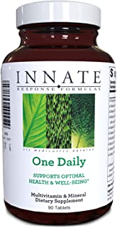 INNATE Response Formulas, One Daily, Herb-Free Multivitamin, Vegetarian, Non-GMO, 90 tablets (90 servings)