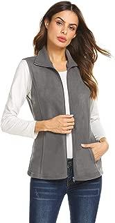 Women's Casual Zip Up Sleeveless Polar Fleece Vest Lightwieght Outwear Vest