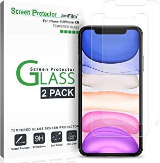 amFilm Screen Protector Glass for iPhone 11 and iPhone XR (2 Pack), Case Friendly Tempered Glass Screen Protector Film for Apple iPhone 11 and 10R (6.1 Inches)