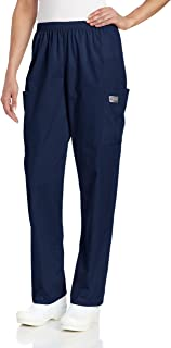 Landau Plus Size Zone Relaxed Fit 3-Pocket Elastic Cargo Scrub Pants for Women 83221, Navy, 3X-Large