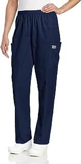 Women's Durable 2-Pocket Elastic Waist Classic Fit Cargo Scrub Pant