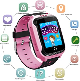 Kids GPS Smart Watch for Students - Boys Girls Smartwatch Phone with GPS Locator 2 Way Calls SOS Camera Voice Chat Math Ga...