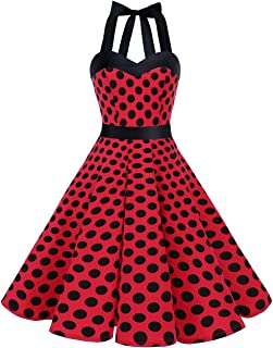black and red polka dot top