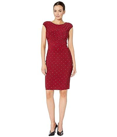 LAUREN Ralph Lauren Vimaja Dress (Vibrant Garnet/Colonial Cream) Women