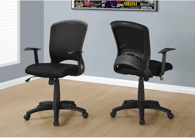 Office Chair Black Mesh Mid Back Computer Swivel 360° Max 78% OFF Minneapolis Mall Desk