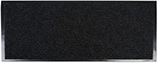 J&M Home Fashions Heavy Duty Outdoor/Indoor Doormat, 22x60, Charcoal Black Utility Mat