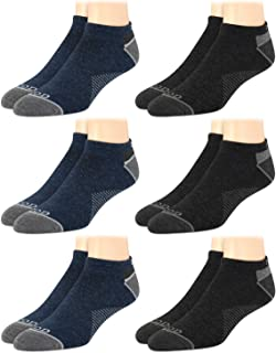 Men's Socks - Low Cut No Show Athletic Performance Ankle Sock Liners (6 Pack)