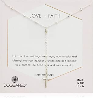 Dogeared Womens SS Live in Love Y Chain Necklace, Silver, 16