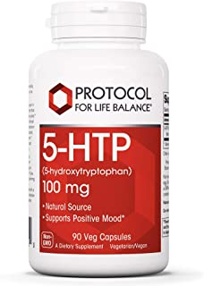 Protocol For Life Balance - 5-HTP (5-hydroxytryptophan) 100 mg - Supports Positive Mood, Promotes Healthy Sleep Patterns, ...