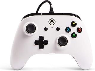 PowerA Mando con Cable con licencia oficial para Xbox One, Xbox One S, Xbox One X y Windows 10 - Blanco
