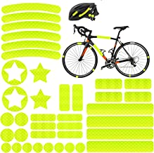 Reflektoren Aufkleber Sticker 38 Stück HiPerformance Reflexfolie Set zur Sicherungs-Markierung von Kinderwagen, Fahrrädern, Helmen mit Stickern - selbstklebend und hochreflektierend, von AGPTEK