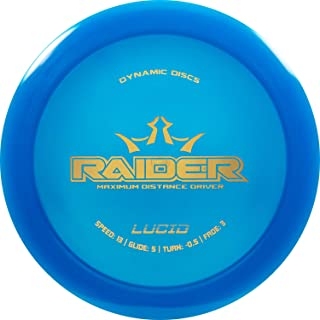 Dynamic Discs Lucid Raider Disc Golf Driver   170g Plus   Maximum Distance Frisbee Golf Driver   Stamp Color Will Vary