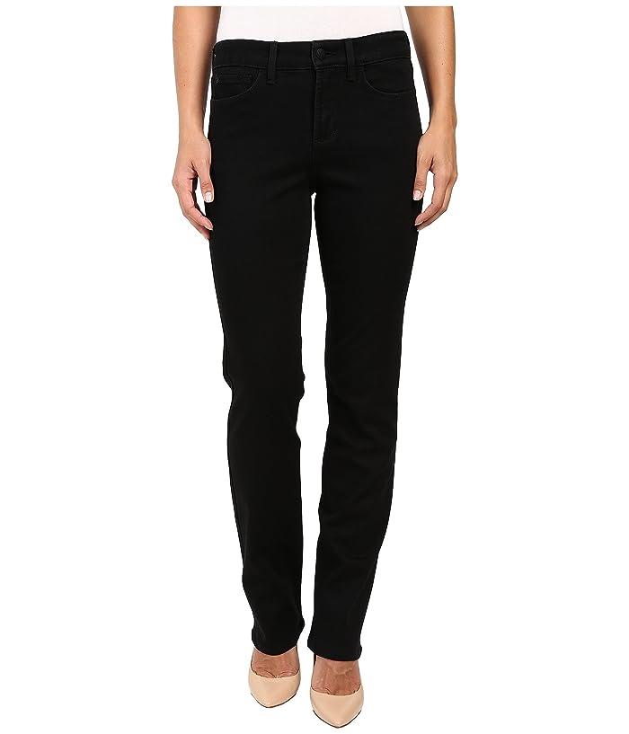 NYDJ Marilyn Straight Jeans in Black (Black) Women's Jeans