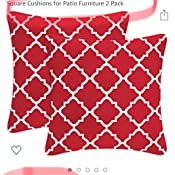 Fabritones Decorative Indoor Outdoor Accent Pillows and Insert 18x18 Inch Throw Pillow with Insert Pink Square Geometric Triangle Pattern Patio Cushion