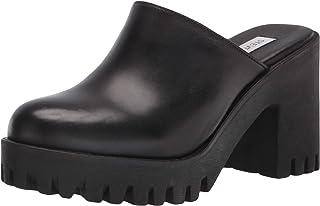 Steve Madden Women's Bayside Heeled Sandal, Black Leather, 8
