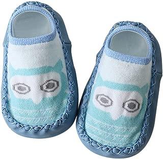 Baby Shoes Socks Children Infant Cartoon Socks Baby Kids Indoor Floor Socks Leather Sole Non-Slip Towel Socks