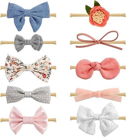 MiiYoung - Diademas y lazos para bebé recién nacido, accesorios para el pelo