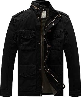 Men's Cotton Military Casual Stand Collar Windbreaker Field Jacket