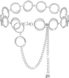 YooAi Cinture A Catena O-Ring Cintura in Vita per Donna Regalo con Catena A Maglie in Metallo