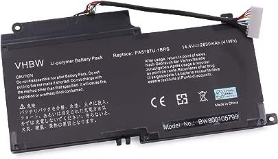 vhbw Akku 2500mAh  14 4V  f r Notebook Laptop Toshiba Satellite L55t  Satellite P55  Satellite S55t wie P000573230  PA5107U-1BRS