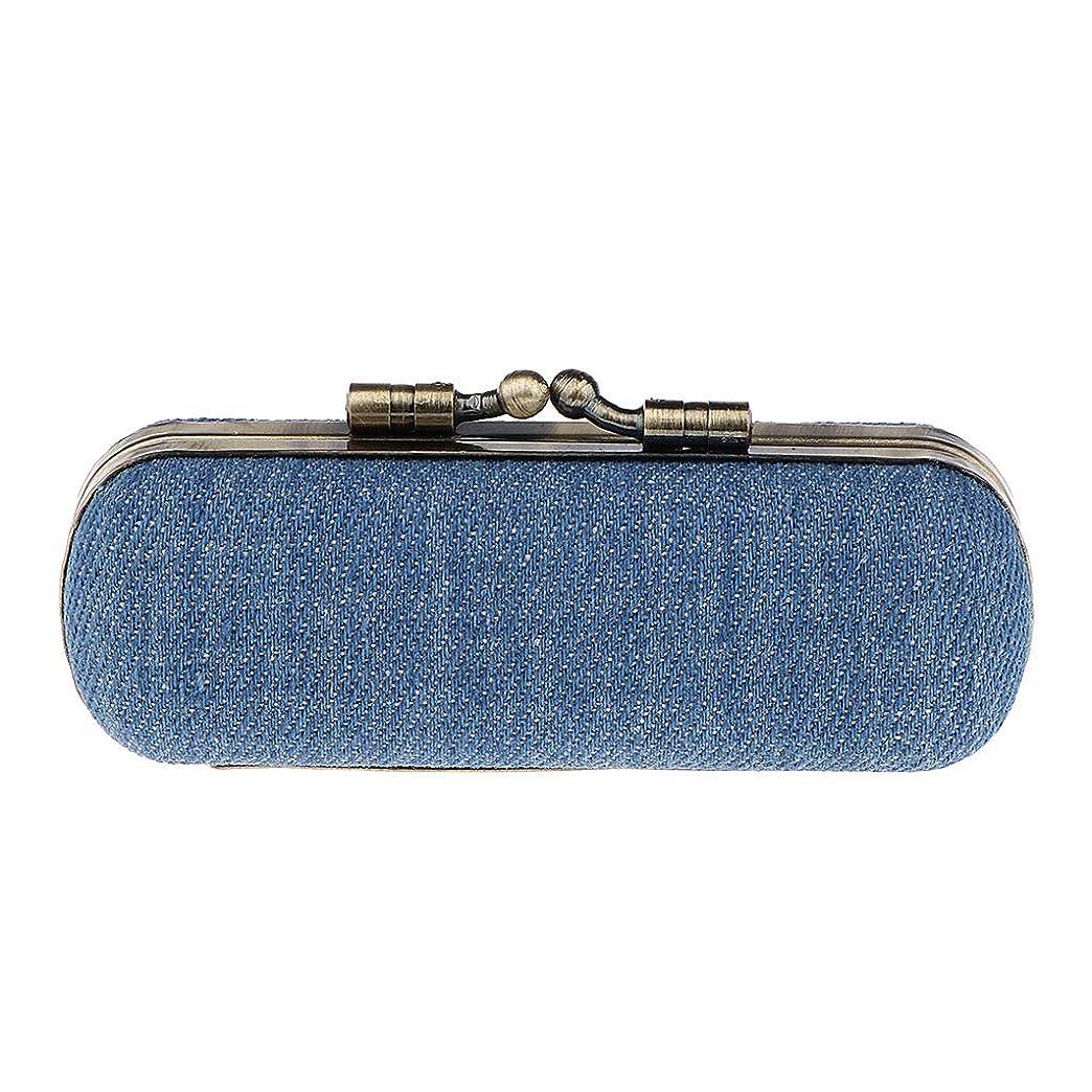 アナロジー娘成熟Perfeclan 口紅収納ケース ホルダー ボックス 口紅ケース 携帯用 ミラー付き 全4色選択 - スカイブルー