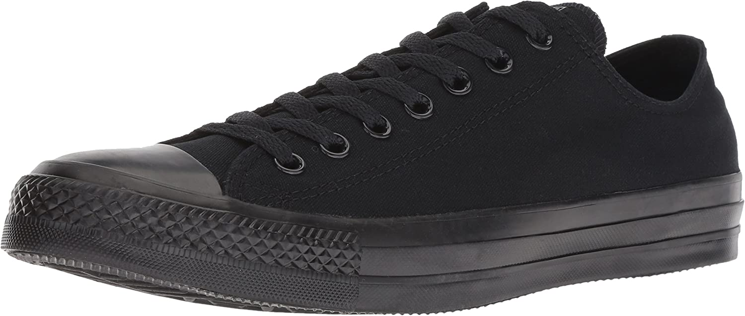 Converse All Star Chuck Taylor Ox Womens 7 Black Canvas Athletic Sneakers shoes