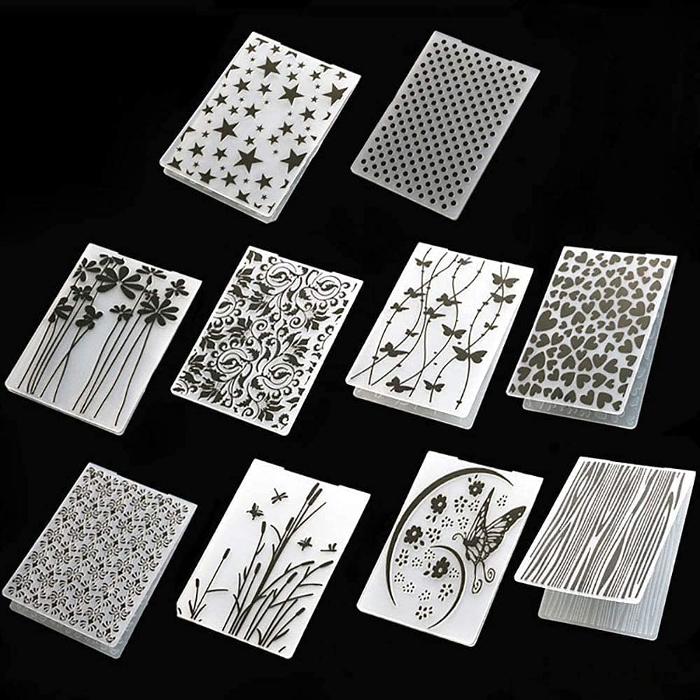 10 Styles Plastic Embossing Large special price !! Folder DIY Craft Stam Molds Now free shipping Template