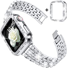 Sponsored Ad - Goton Compatible for Apple Watch Band 38mm, Women Bling Diamond Replacement Strap Bracelet & Bling Bumper P...