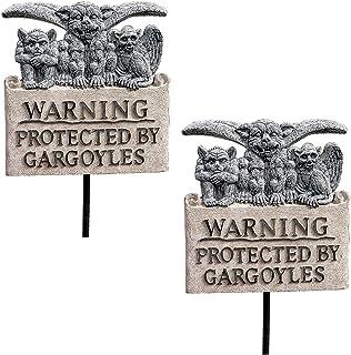 Design Toscano NG999105 Posted Beware of Gargoyles Garden Sign Quantity: Set of 2