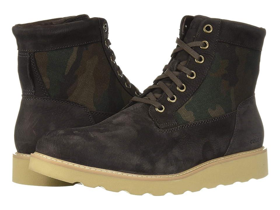 Cole Haan Nantucket Rugged Plain Boot (Dark Roast Nubuck/Camo Canvas) Men