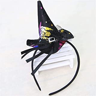 Pumpkin Sorceress Hat Halloween Witch Hat Fancy Dress Party Costume Cap Party Decor for Kids Caps Adults Kids Cosplay (Col...