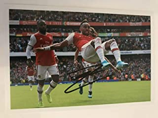 Pierre-Emerick Aubameyang Signed 6 X 4 Inch Soccer Photograph. Genuine Autograph. COA! Free Frame!