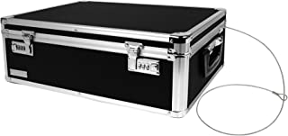 Vaultz Locking Storage Box, 6.5 x 19 x 13.5 Inches, Black (VZ00323)