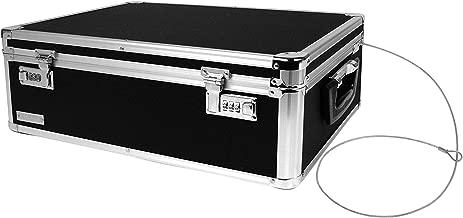 Vaultz Locking Storage Chest/Dorm Storage with Combination Locks, 6.5 x 19 x 13.5 Inches, Black (VZ00323)