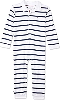 Tommy Hilfiger Baby Baby Pure Cotton Rugby Babygrow, Black Iris/White