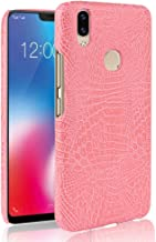 Yhuisen Luxury Classic Crocodile Skin Pattern [Ultra Slim] PU Leather Anti-scratch PC Protective Hard Case Cover for Vivo V9/Vivo Y85 (Color : Pink)