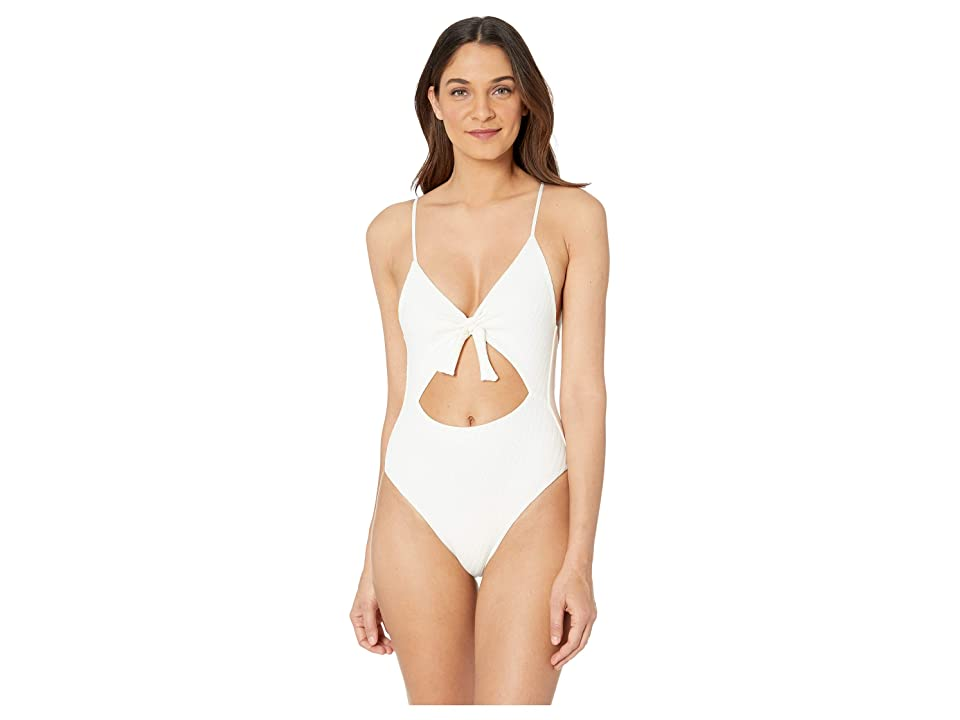 L*Space Crossroads Texture Miss Molly One-Piece (Cream) Women's Swimsuits One Piece