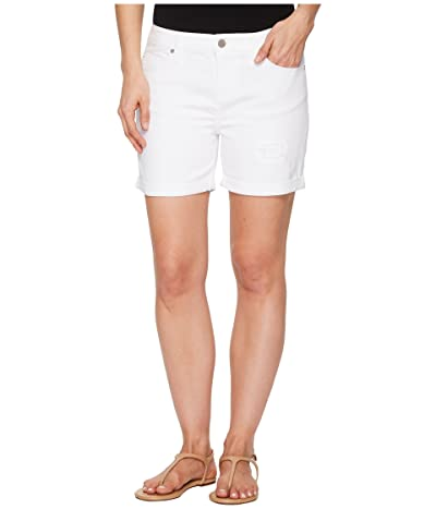 Liverpool Vickie Shorts with Destruct in Comfort Stretch Denim in Bright White (Bright White) Women