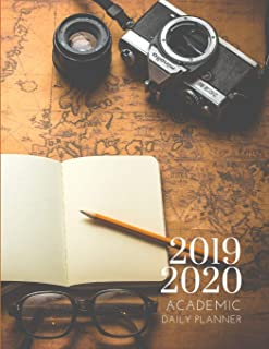 2019-2020 Academic Planner With Hours Adventure Themed Daily Organizer: Hourly Organizer In 15 Minute Interval; Appointment Calendar With Address Book; Monthly & Weekly Goals Journal With Quotes