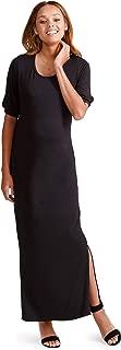 Ingrid & Isabel Womens Split Sleeve Knit Maxi Maternity Dress